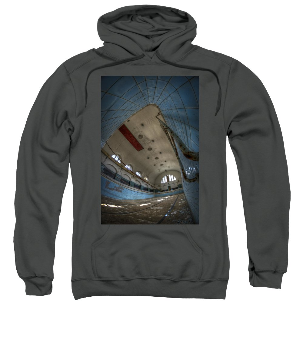 Abandoned Sweatshirt featuring the digital art In At The Deep End by Nathan Wright