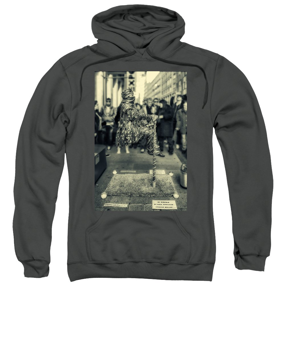 Color Efex Pro Sweatshirt featuring the photograph In Balance by Roberto Pagani