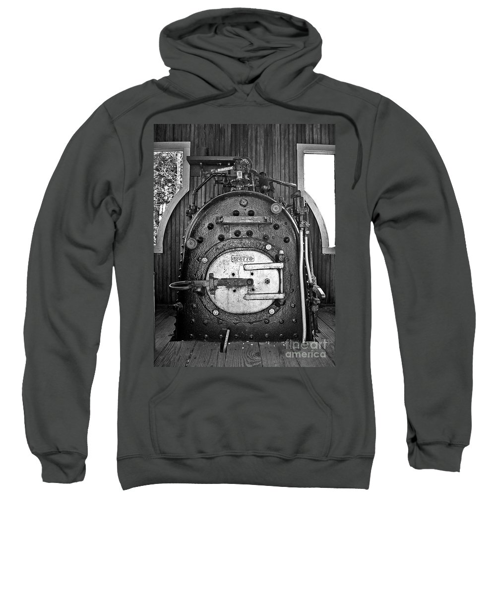 Engine Sweatshirt featuring the photograph In Control B by Sara Raber
