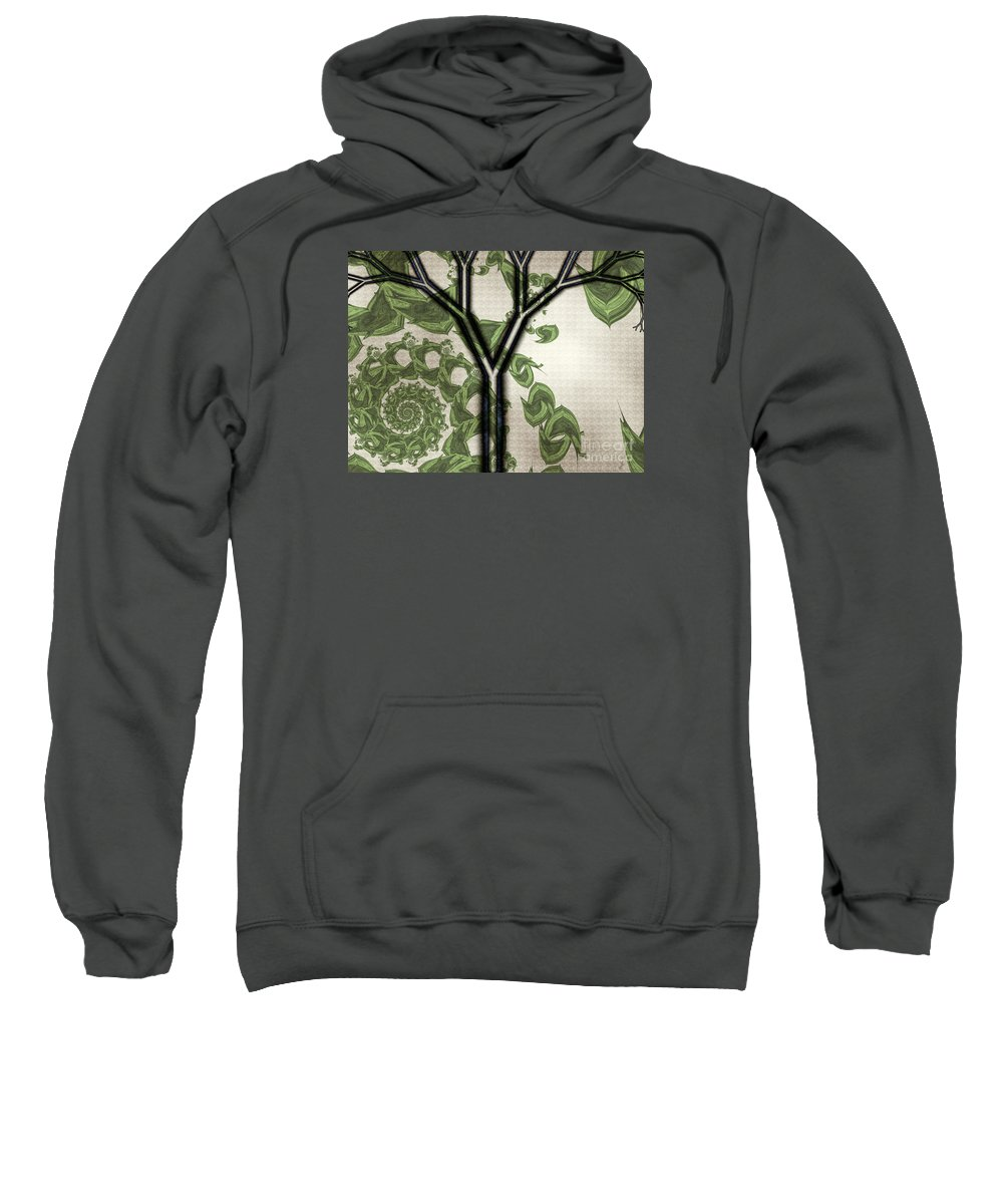 In Like A Lion Sweatshirt featuring the digital art In Like A Lion by Kimberly Hansen