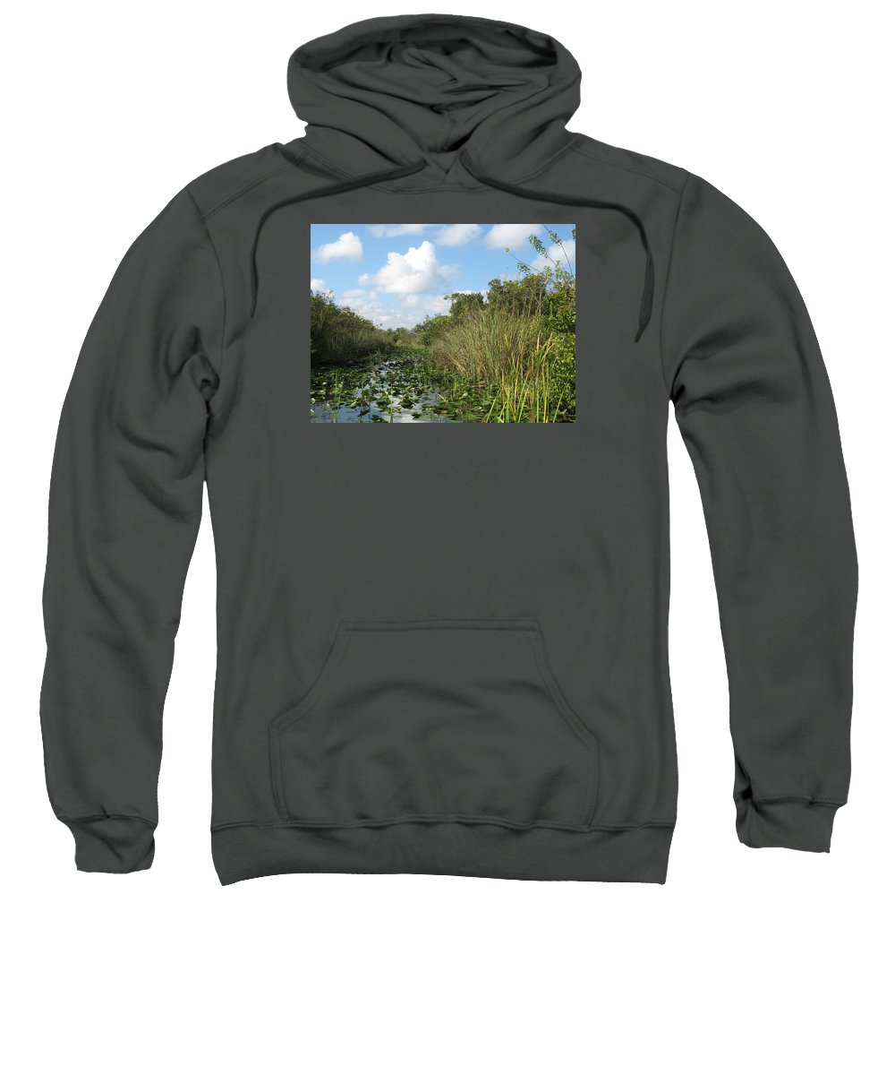 Everglades Sweatshirt featuring the photograph In The Everglades by Christiane Schulze Art And Photography
