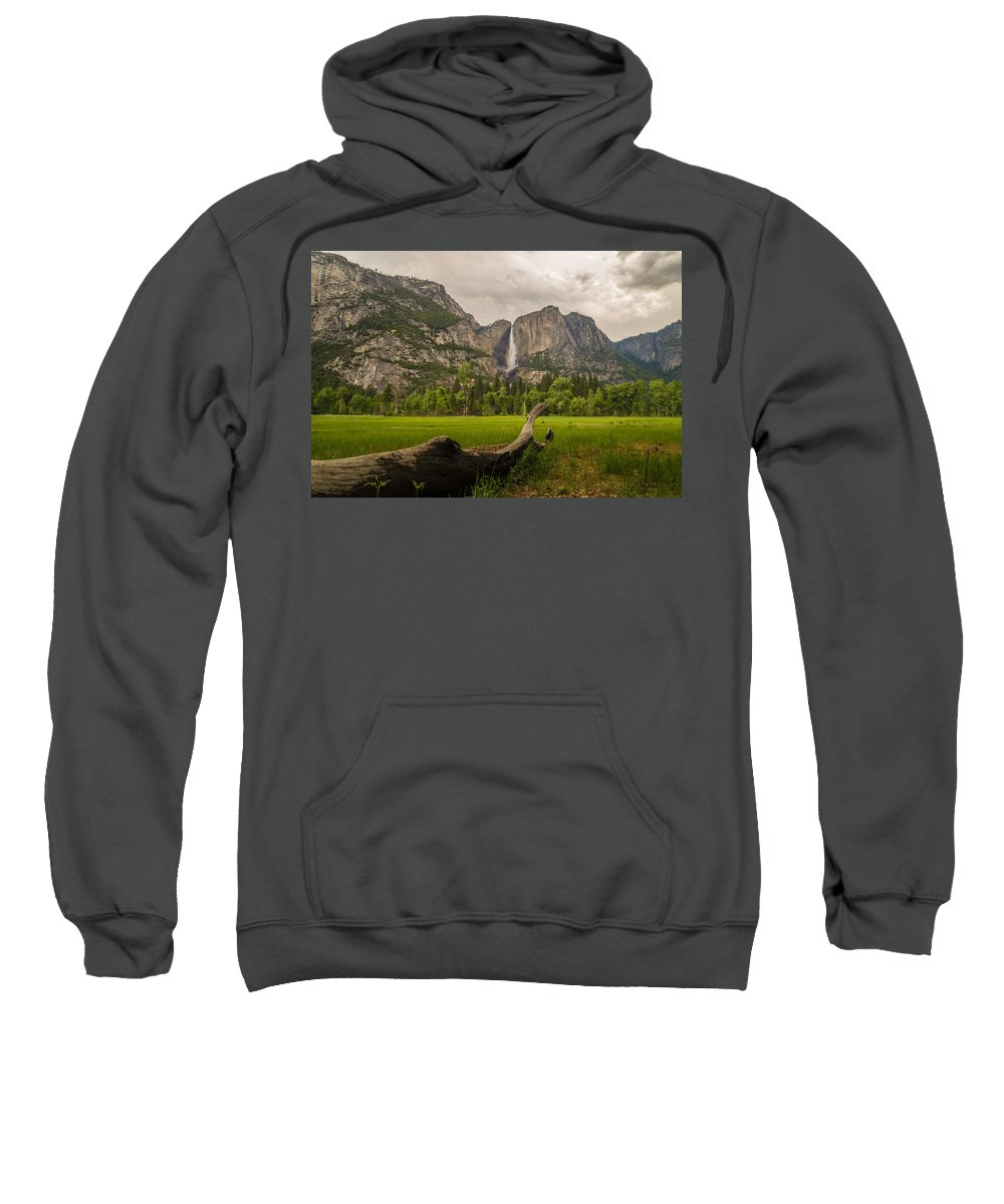 Yosemite Sweatshirt featuring the photograph In The Meadow by Kristopher Schoenleber