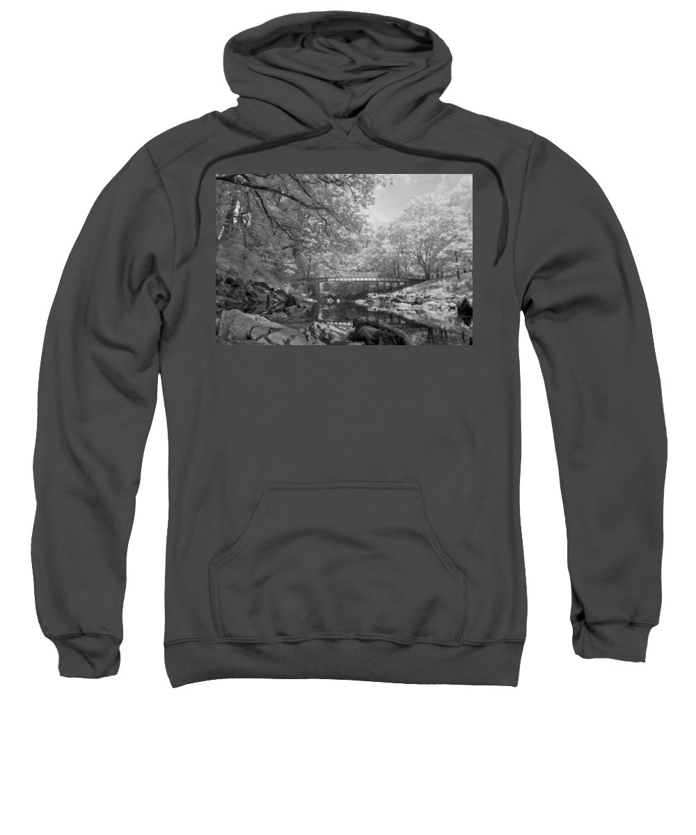 River Sweatshirt featuring the photograph Infrared River by Beverly Cash