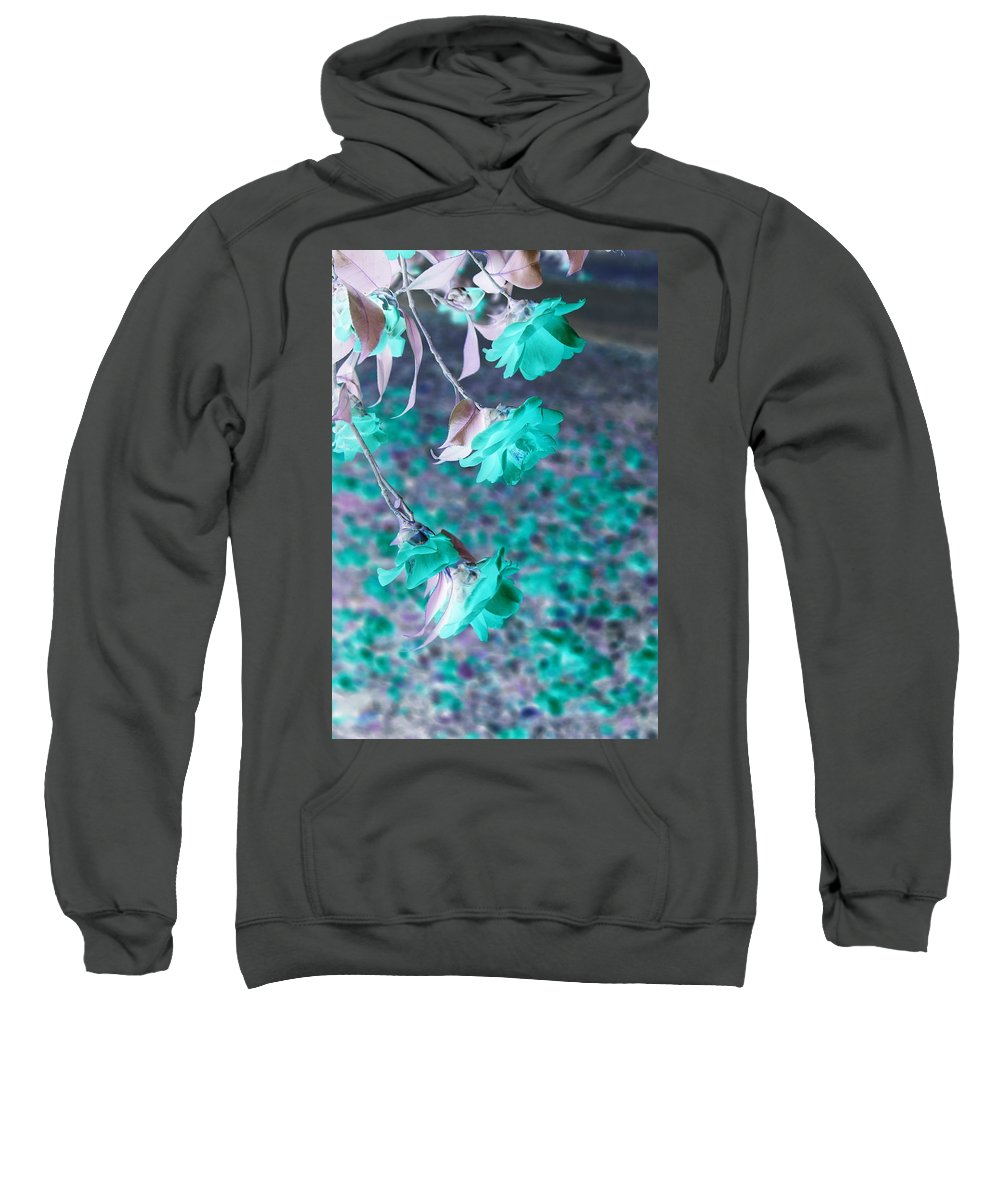 Infrared Sweatshirt featuring the photograph Infrared Roses by Mary Koval