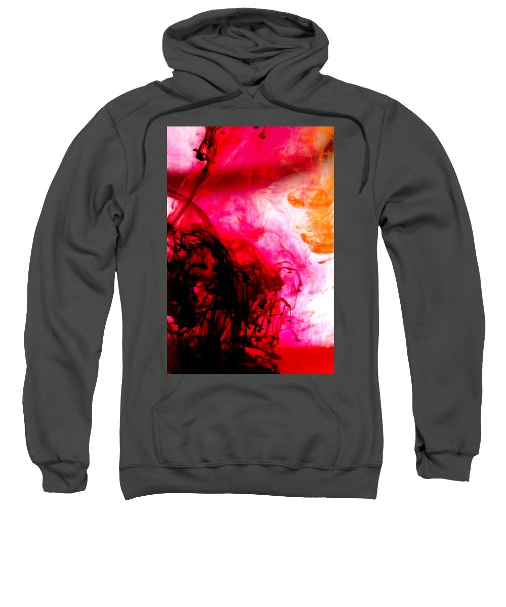 Abstract Sweatshirt featuring the photograph Ink Bath 6 by Molly Picklesimer
