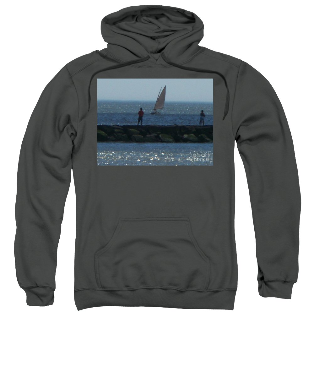 Inlet Sweatshirt featuring the photograph Inlet At West Cape May Nj by Eric Schiabor