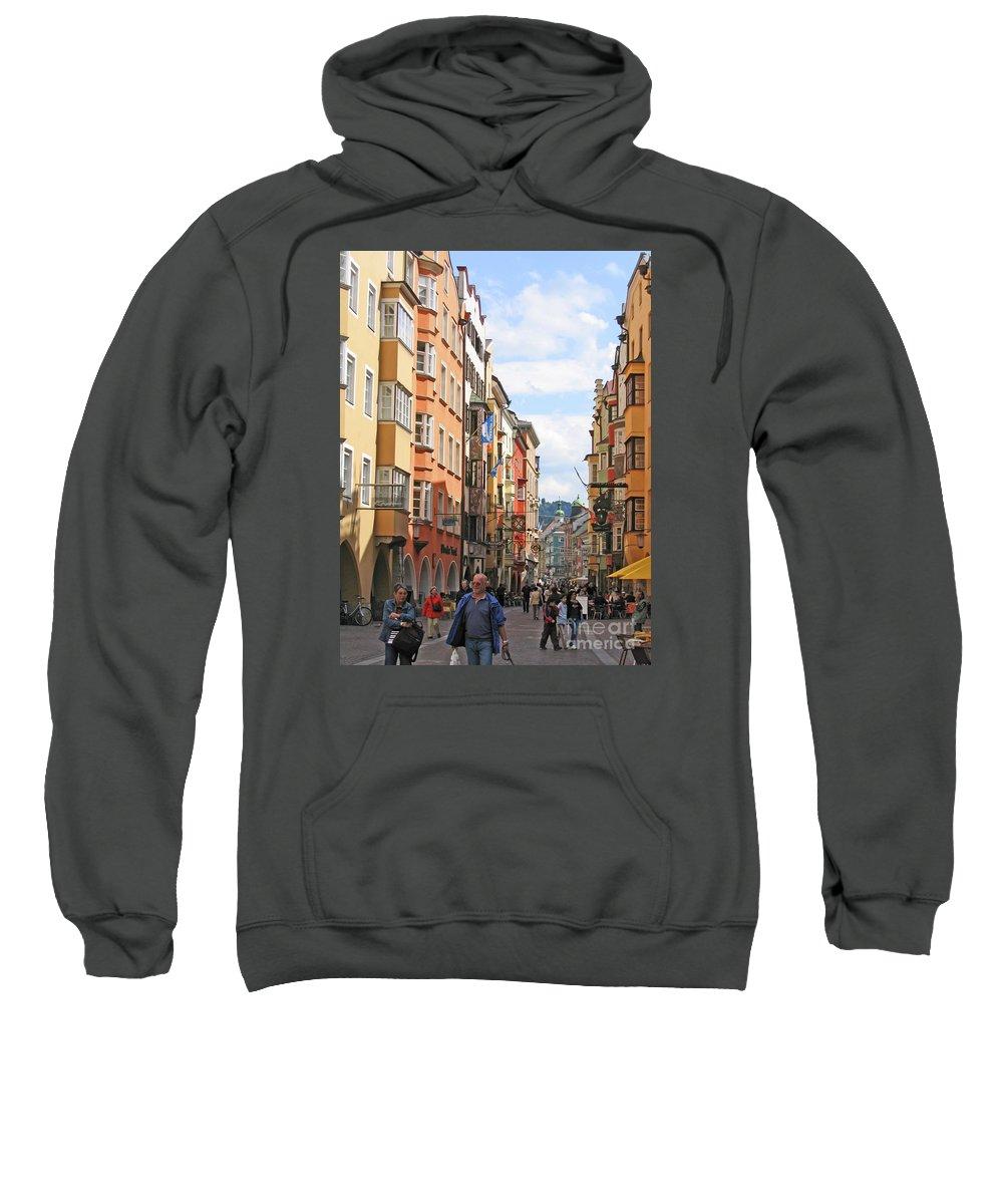Ann Horn Sweatshirt featuring the photograph Innsbruck Color by Ann Horn