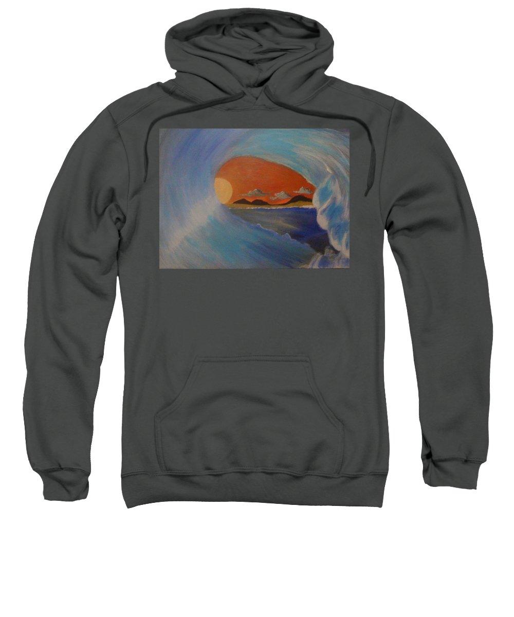 Tube Sweatshirt featuring the painting Inside by Joel Watsky