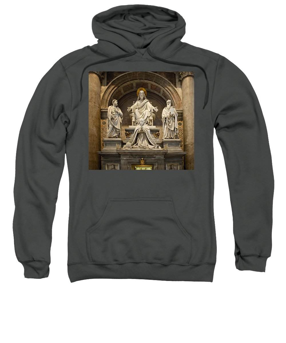 St Peters Sweatshirt featuring the photograph Inside St Peters Basiclica - Vatican Rome by Jon Berghoff