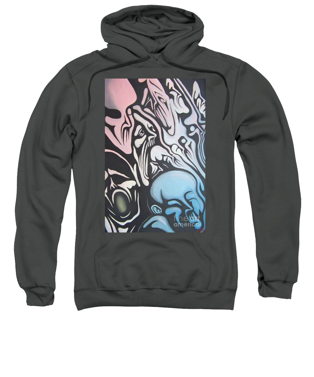 Tmad Sweatshirt featuring the painting Intensity by Michael TMAD Finney