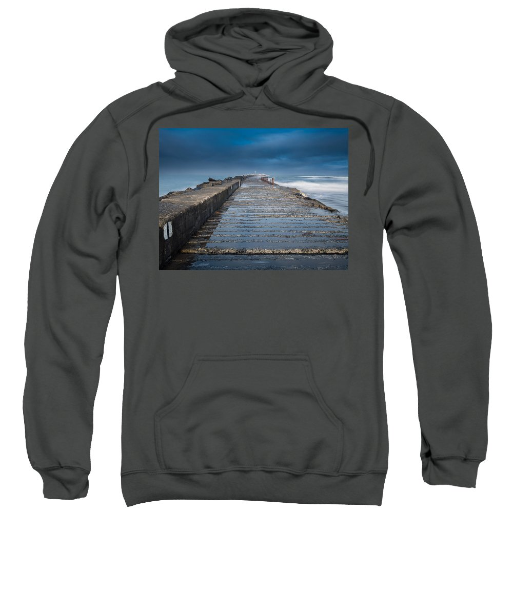 Stormy Skies Sweatshirt featuring the photograph Into The Storm by Greg Nyquist
