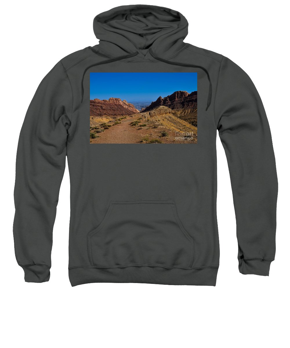 Brown Sweatshirt featuring the photograph Into The Valley by Rich Priest