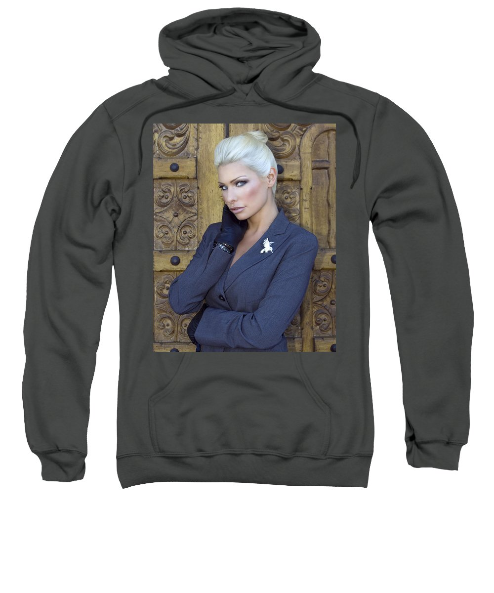 Female Sweatshirt featuring the photograph Intrigue Palm Springs by William Dey
