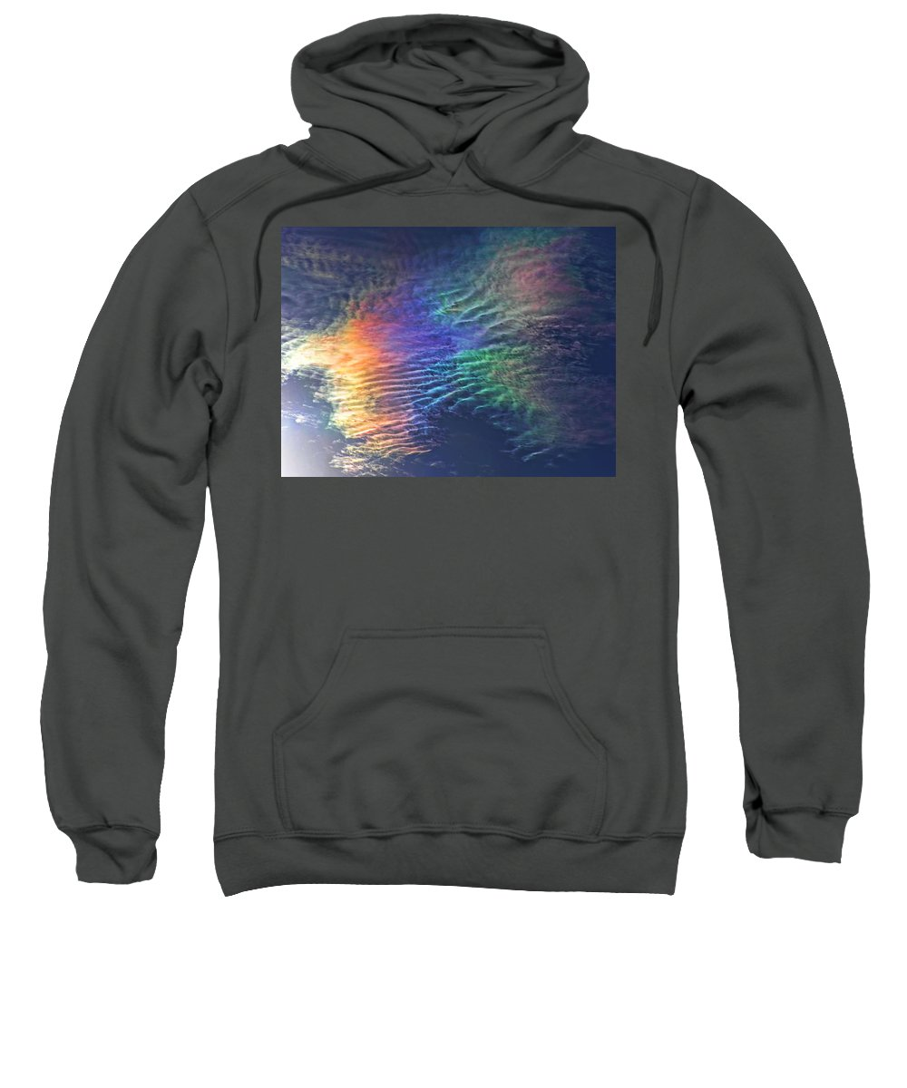 Iridescent Clouds Sweatshirt featuring the photograph Iridescent Clouds 1 by Shannon Story
