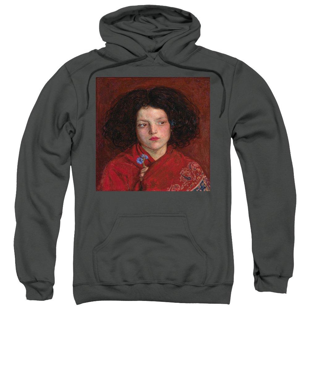 Pre-raphaelite Sweatshirt featuring the painting Irish Girl by Philip Ralley