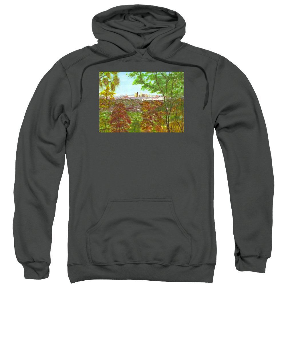 Iroquois Park Sweatshirt featuring the painting Iroquois Park by Joyce Tucker