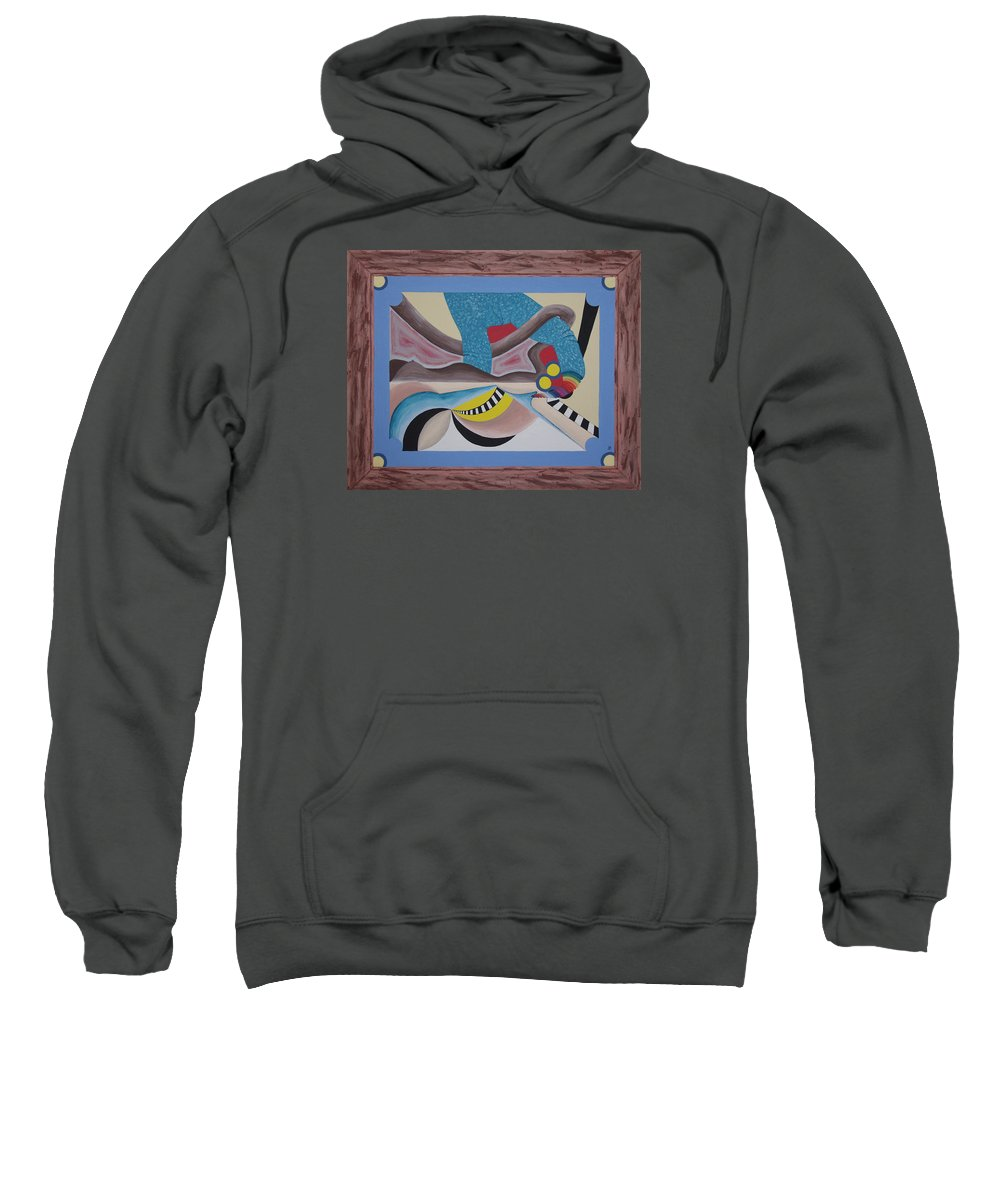 Expressionism Sweatshirt featuring the painting Irreconcilable Differences by Dean Stephens