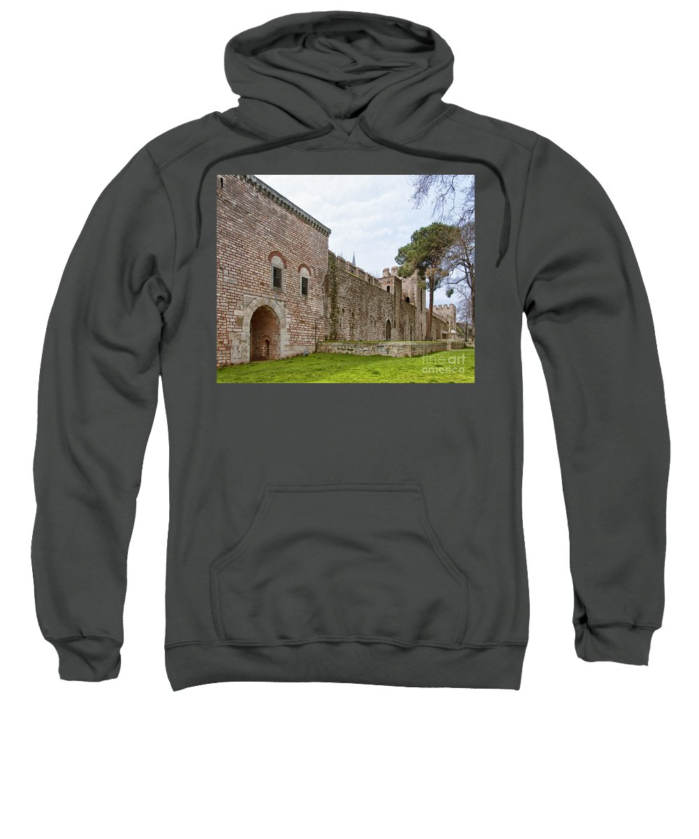 Turkey Sweatshirt featuring the photograph Istanbul City Wall 04 by Antony McAulay