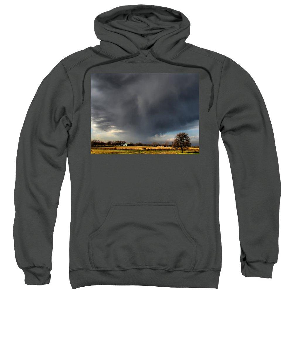 Rain Sweatshirt featuring the photograph It Looks Like Rain by Shannon Story