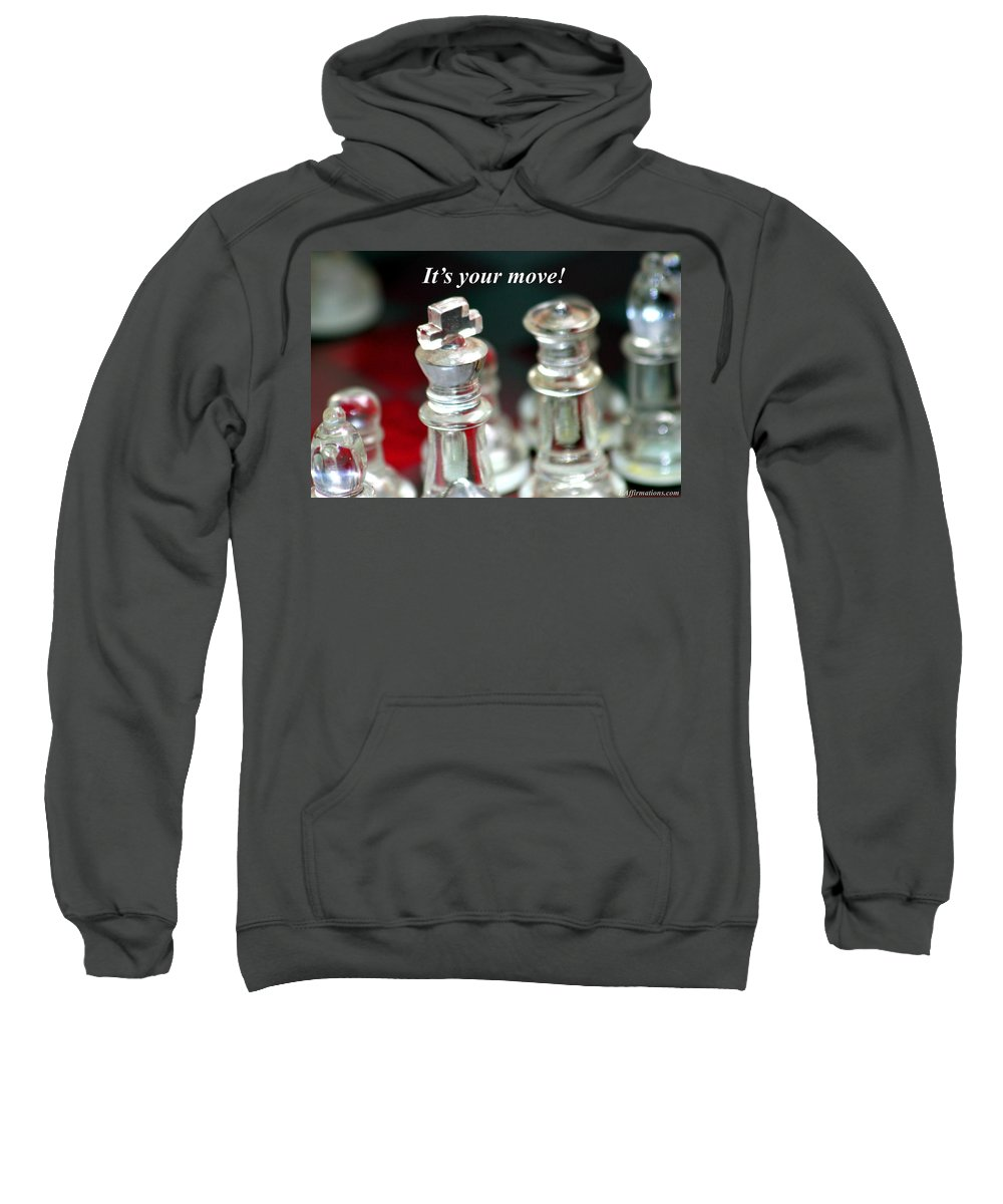 Chess Set Sweatshirt featuring the photograph It's Your Move by Pharaoh Martin