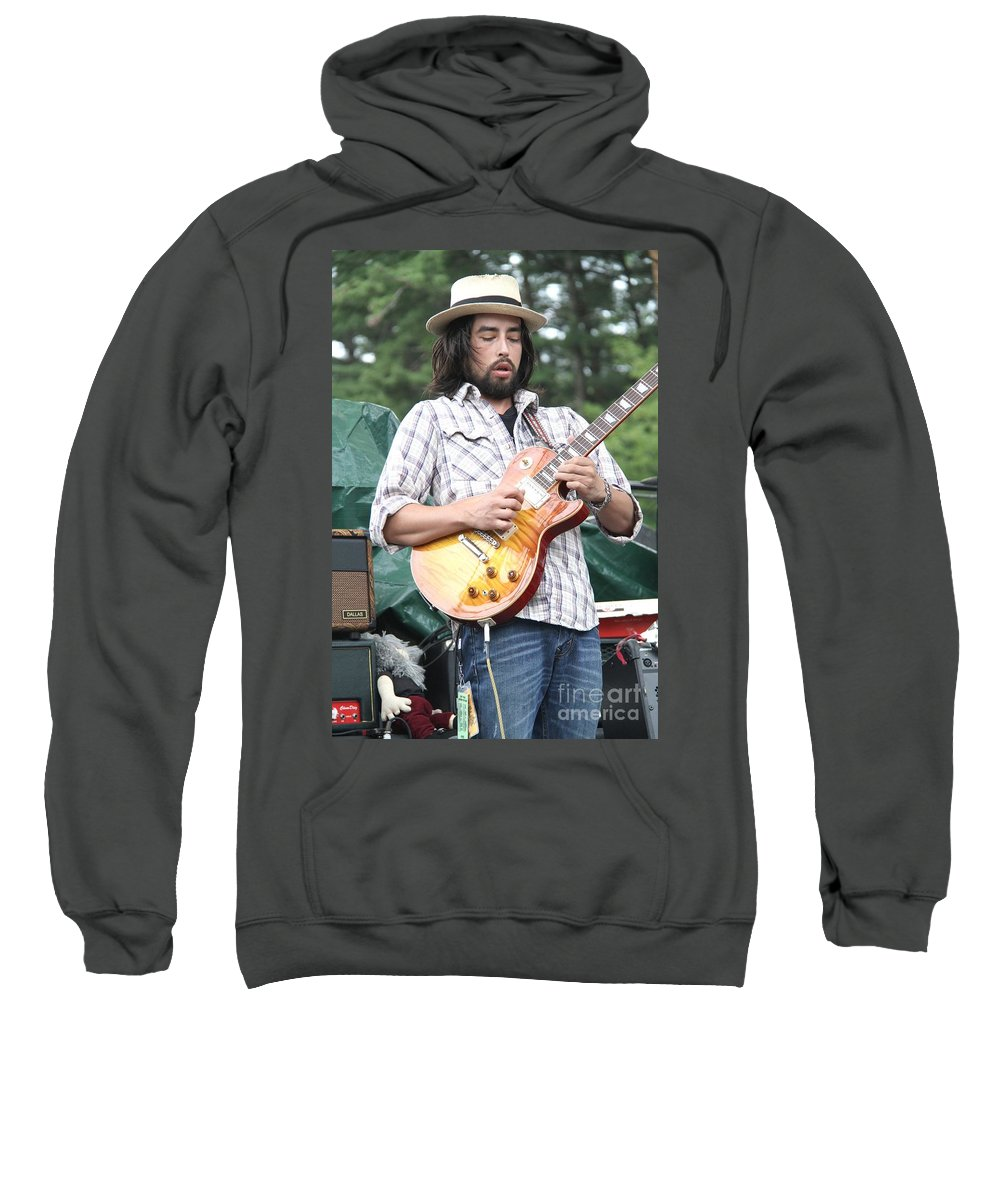 Acoustic Guitar Sweatshirt featuring the photograph Jackie Greene by Concert Photos