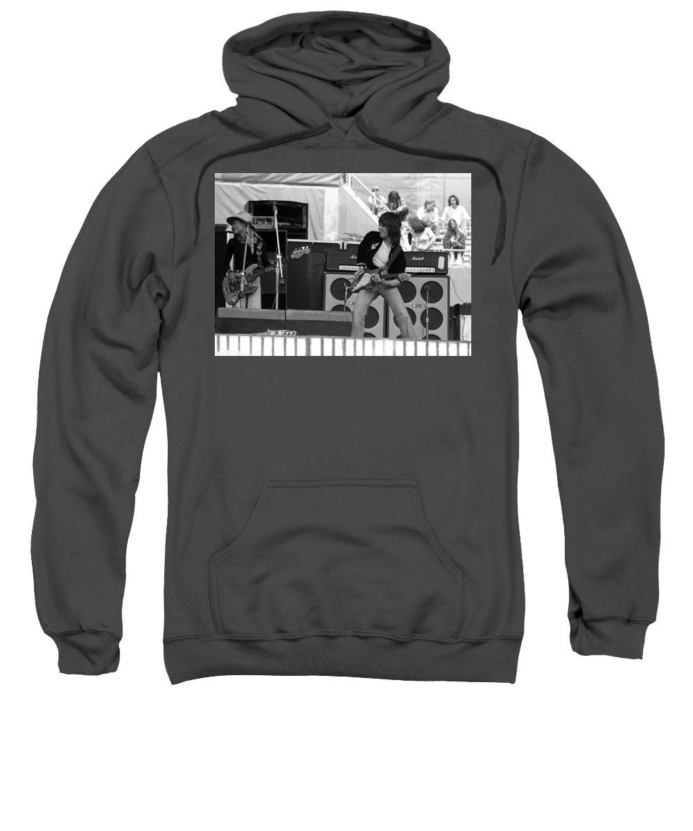 Jeff Beck Sweatshirt featuring the photograph Jb #12 by Ben Upham