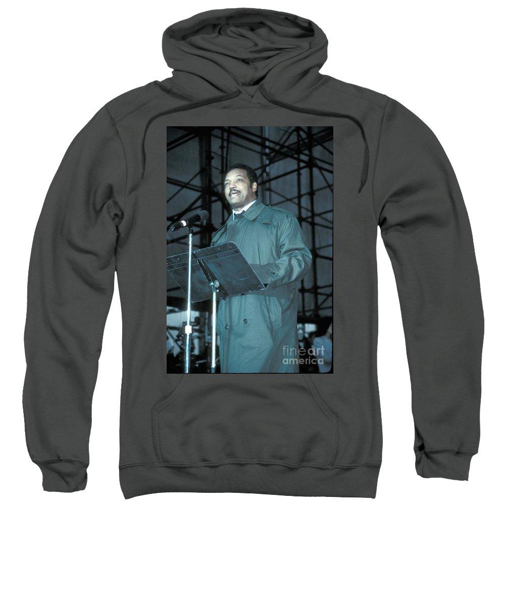 Photos Sweatshirt featuring the photograph Jesse Jackson by Concert Photos