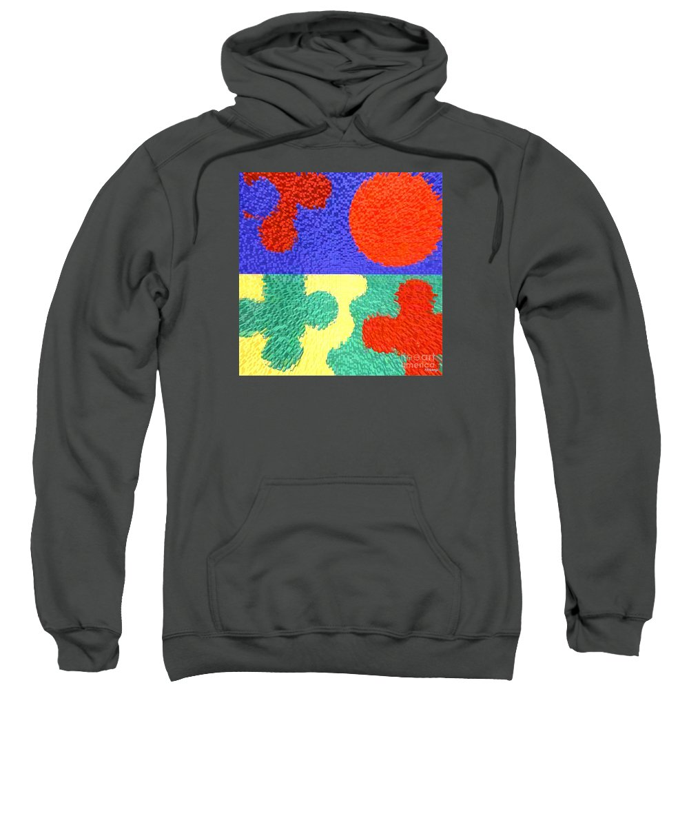 Prints Sweatshirt featuring the painting Jigsaw Pieces by Patrick J Murphy