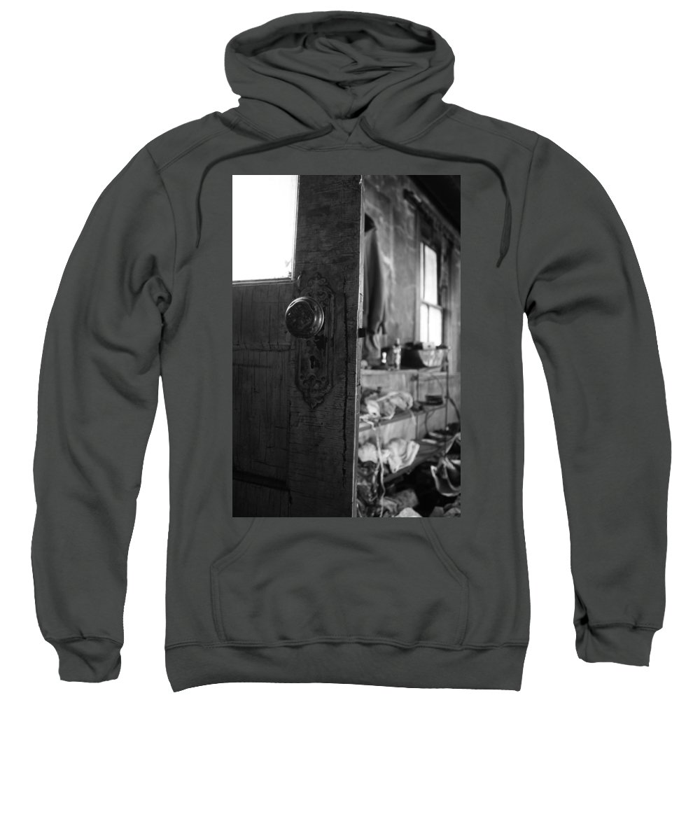 Door Sweatshirt featuring the photograph Join The Stay by The Artist Project