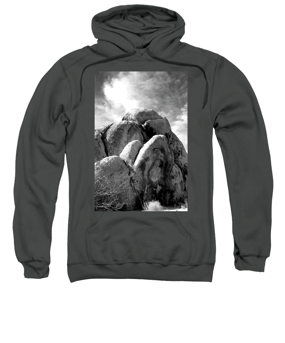Joshua Tree Sweatshirt featuring the photograph Joshua Tree Rocks Joshua Tree by William Dey
