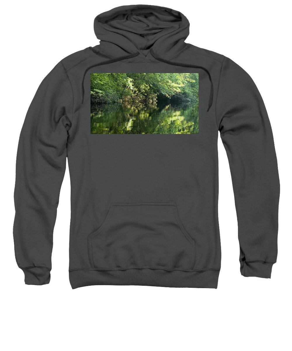 Photography Sweatshirt featuring the photograph June Morning On The Pawcatuck by Steven Natanson