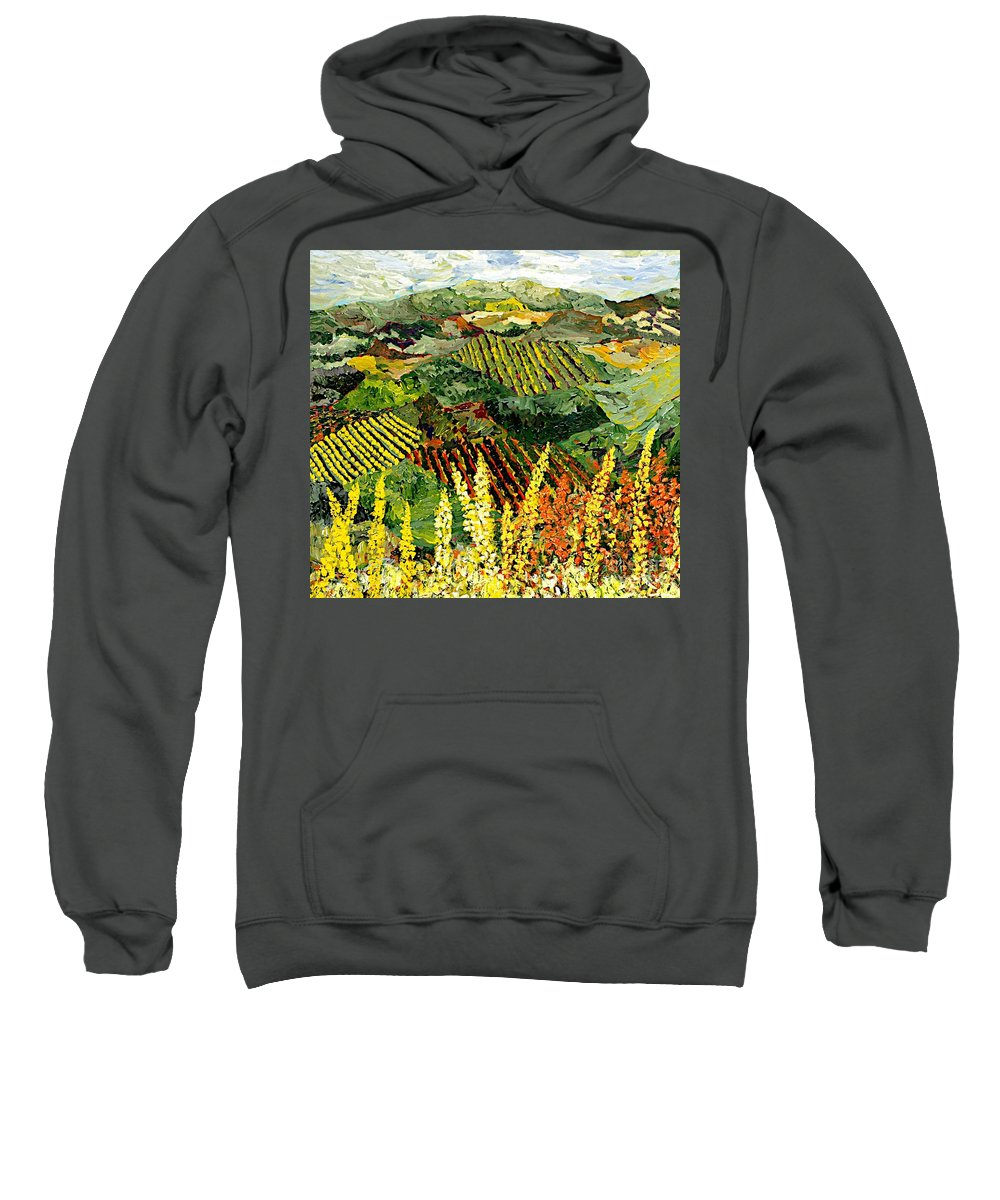 Landscape Sweatshirt featuring the painting Just A Little Valley by Allan P Friedlander