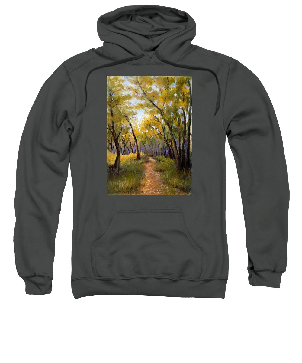 Landscape Sweatshirt featuring the pastel Just Before Autumn by Susan Jenkins