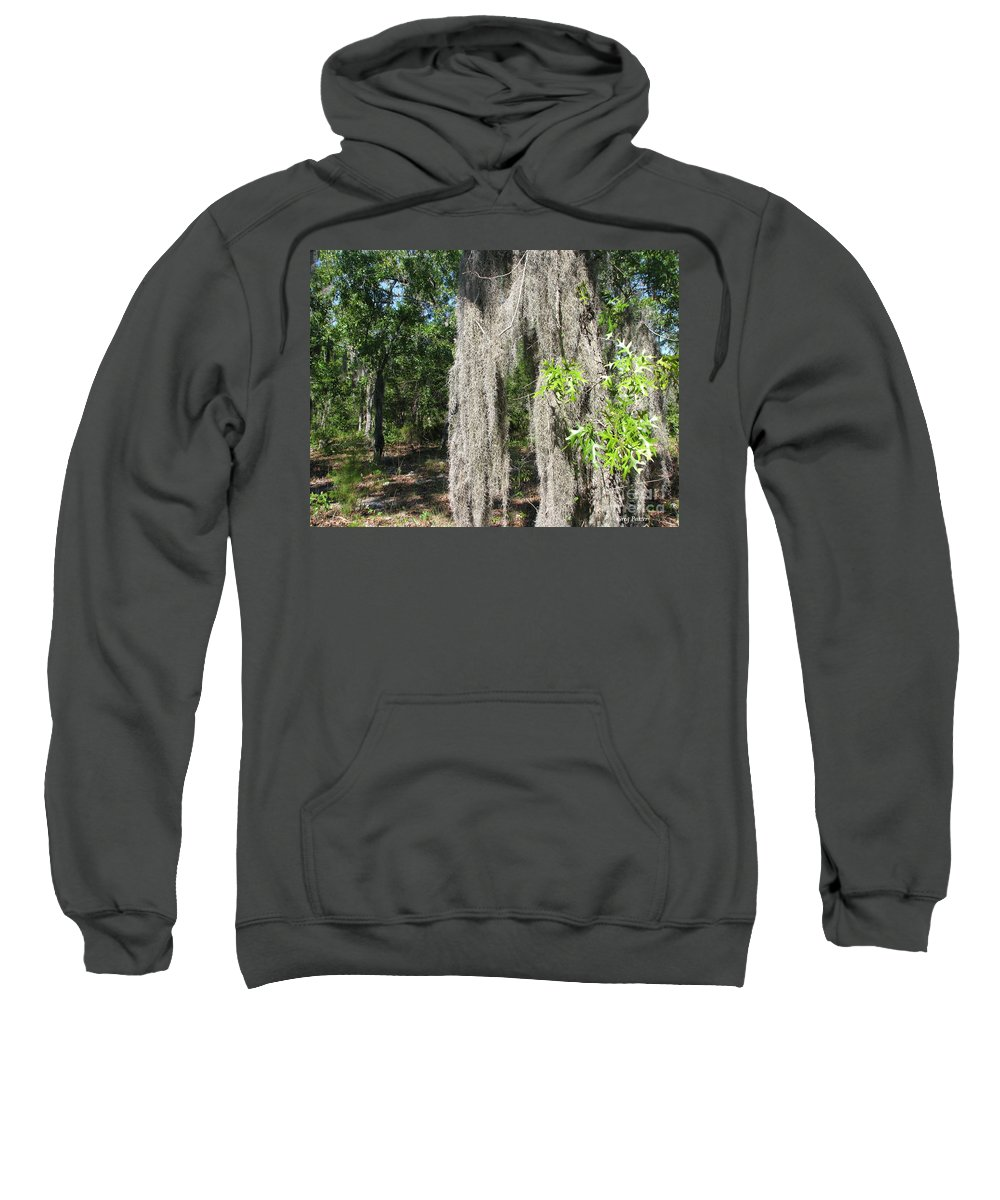 Patzer Sweatshirt featuring the photograph Just The Backyard by Greg Patzer