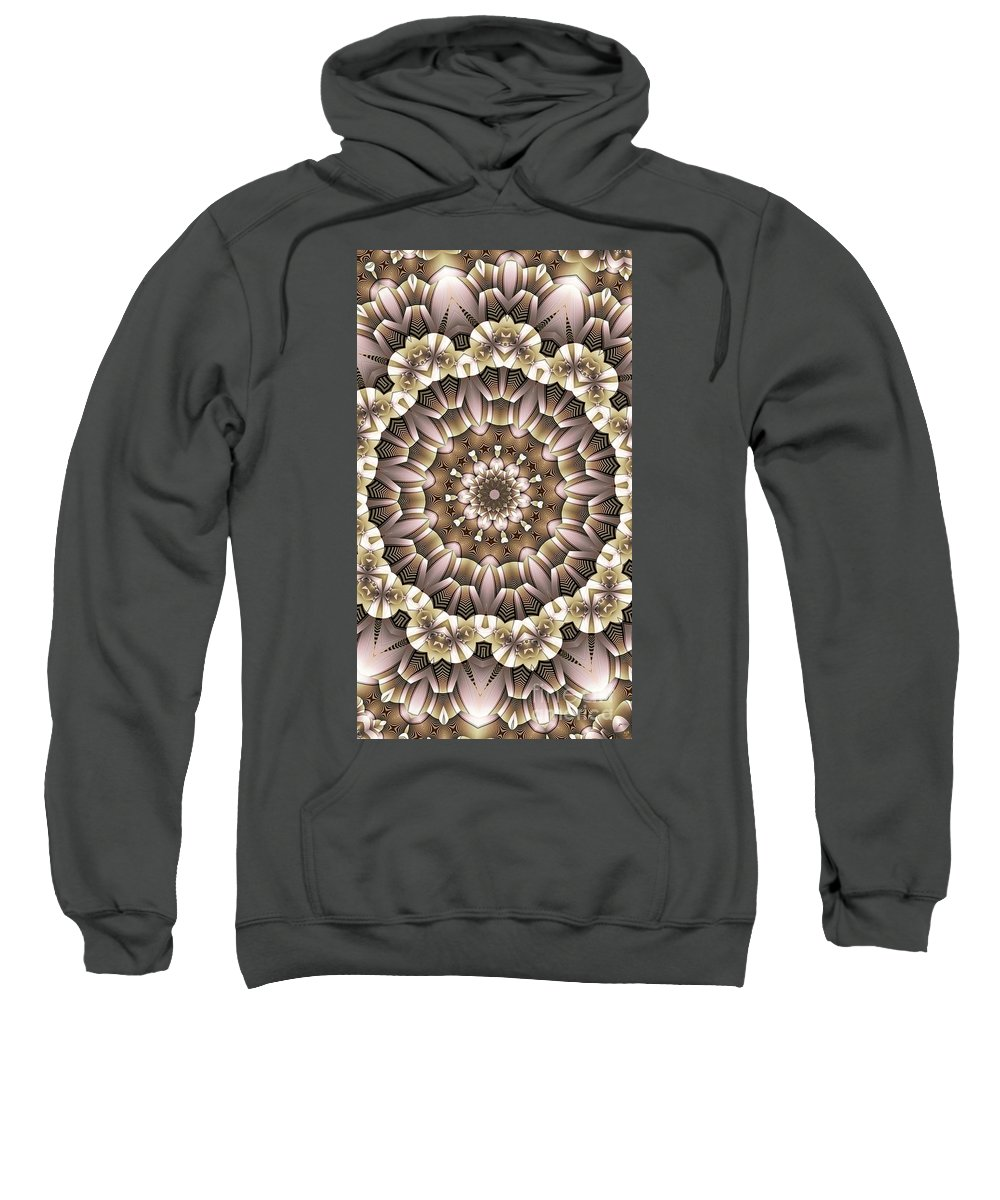 Kaleidoscope Sweatshirt featuring the digital art Kaleidoscope 65 by Ron Bissett