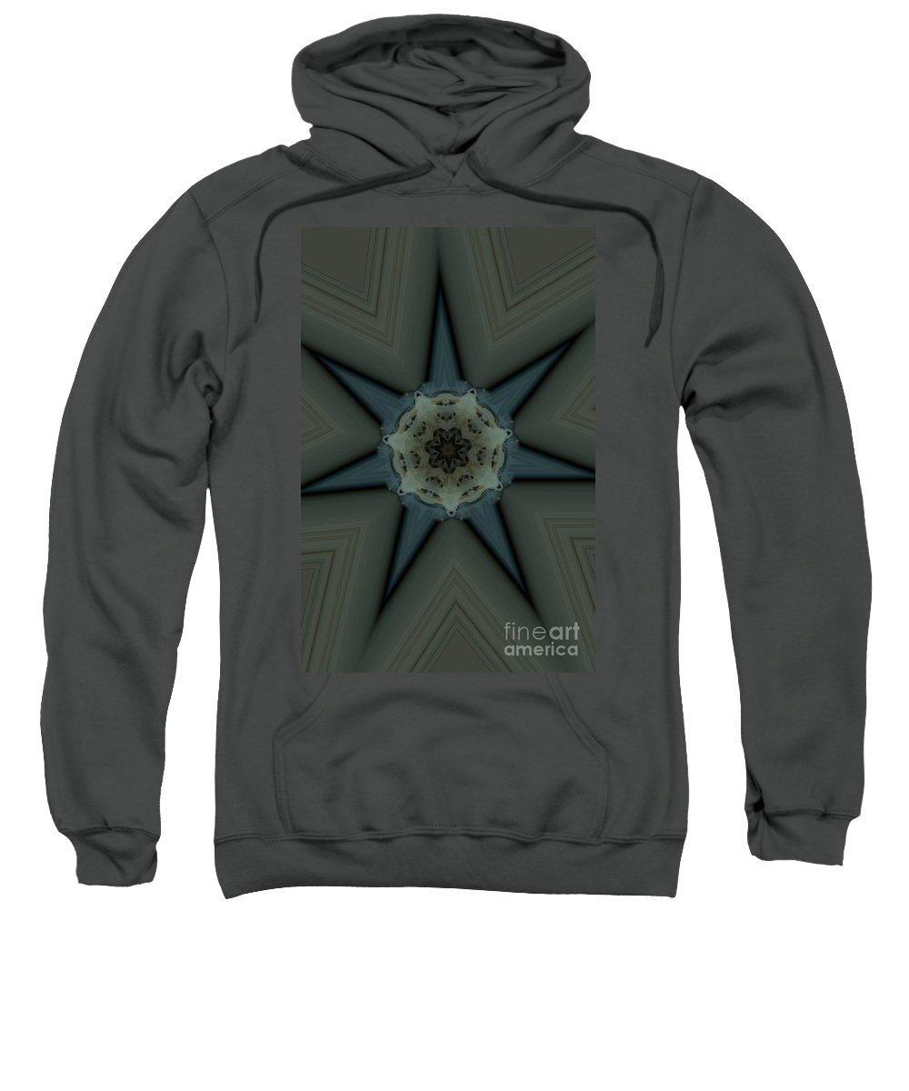 Kaleidoscope Sweatshirt featuring the photograph Kaleidoscope Star by Donna Brown