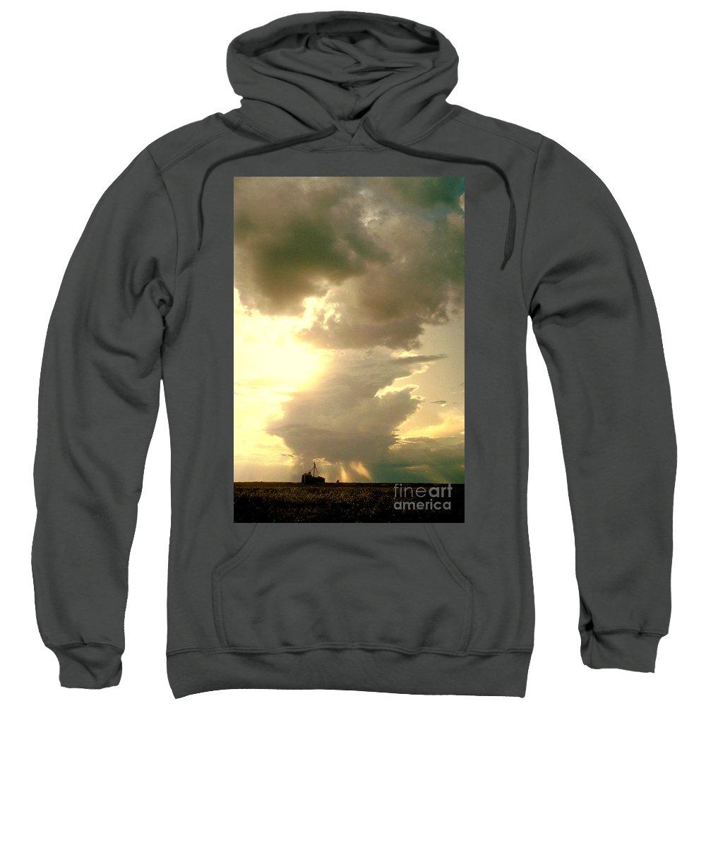 Kansas Sweatshirt featuring the photograph Kansas Clouds by Garry McMichael