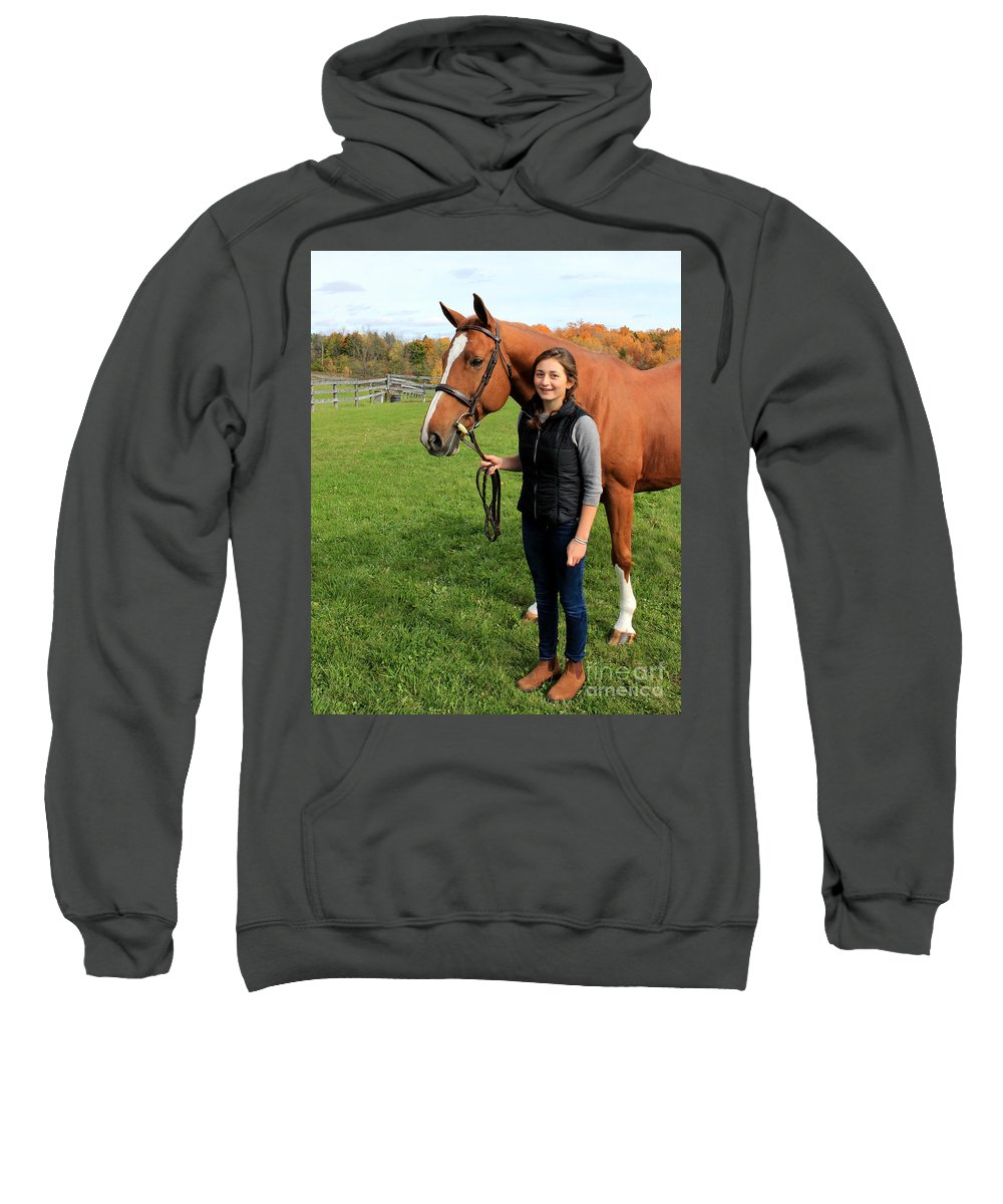Sweatshirt featuring the photograph Katherine Pal 17 by Life With Horses