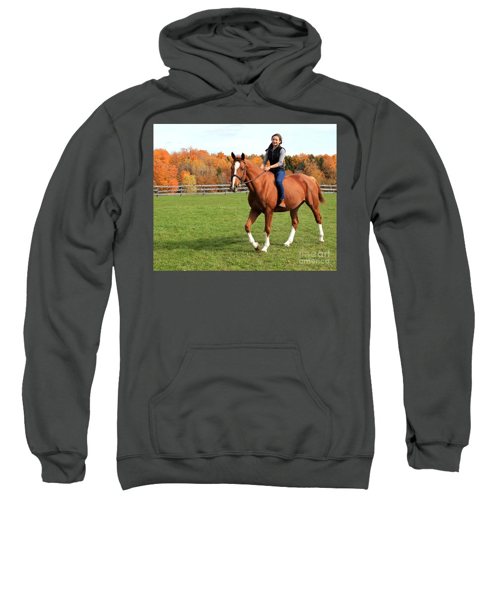 Sweatshirt featuring the photograph Katherine Pal 21 by Life With Horses