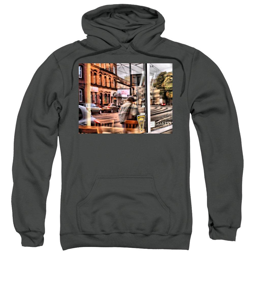 Reflection Sweatshirt featuring the photograph Katowice by Justyna JBJart