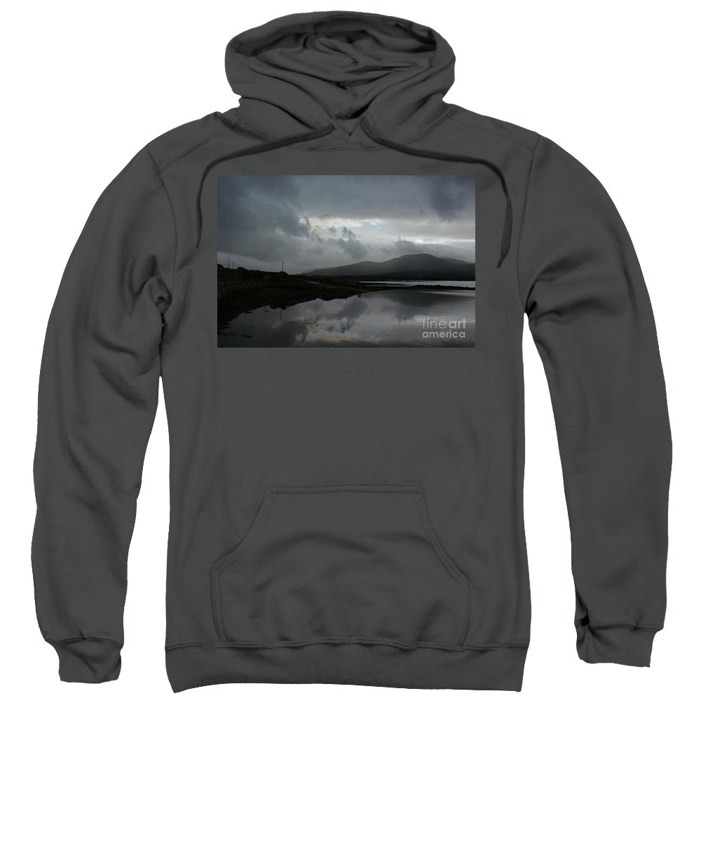 Kenmare River Sweatshirt featuring the photograph Kenmare River Kilmacalogue by Simon Kennedy