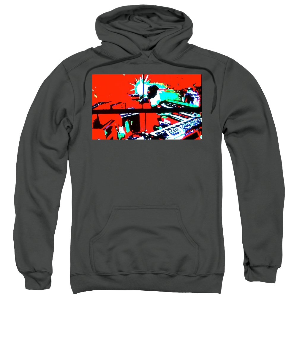 Musical Sweatshirt featuring the photograph Key Note by Stephanie Bland