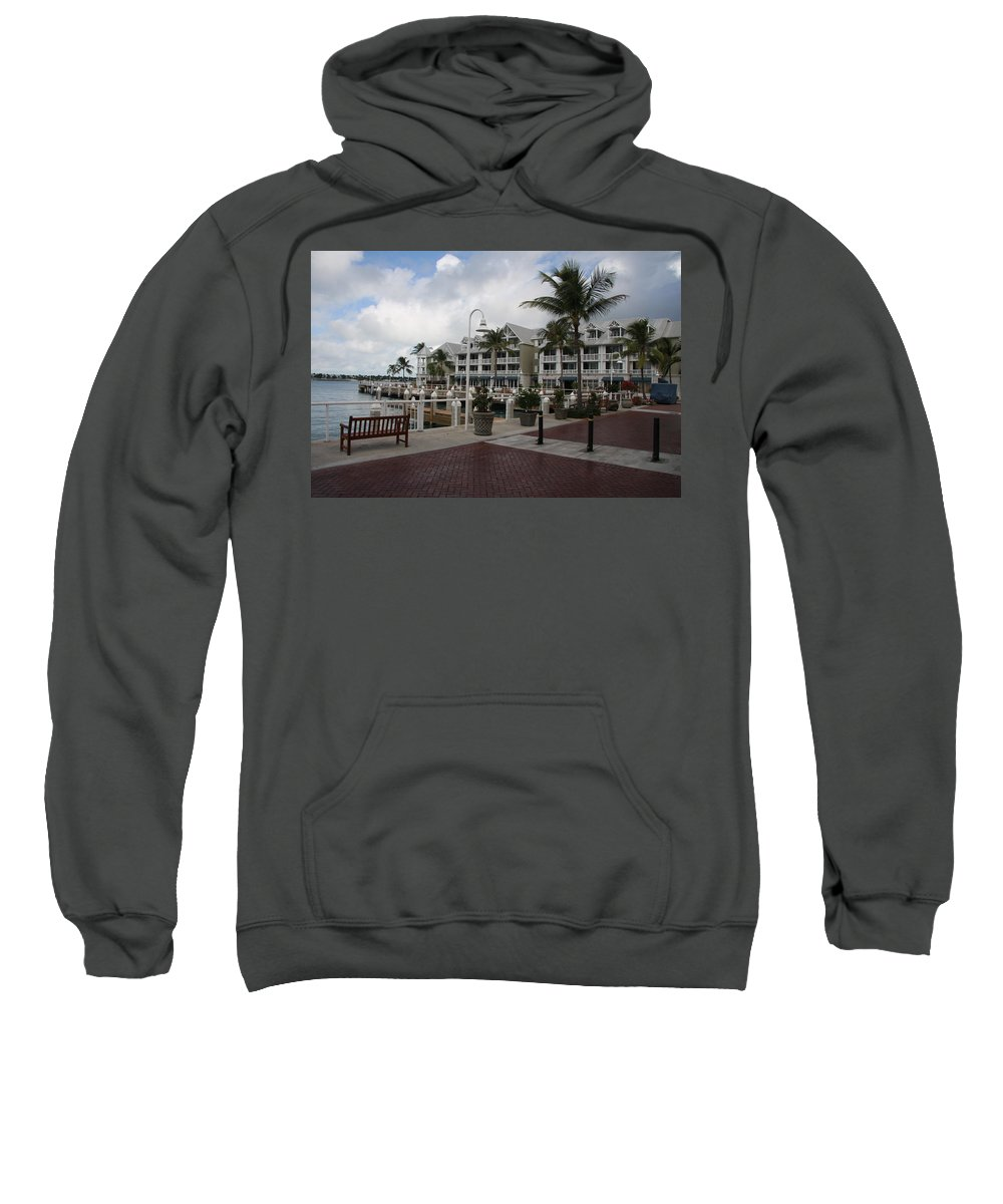 Key West Sweatshirt featuring the photograph Key West Bayfront by Christiane Schulze Art And Photography