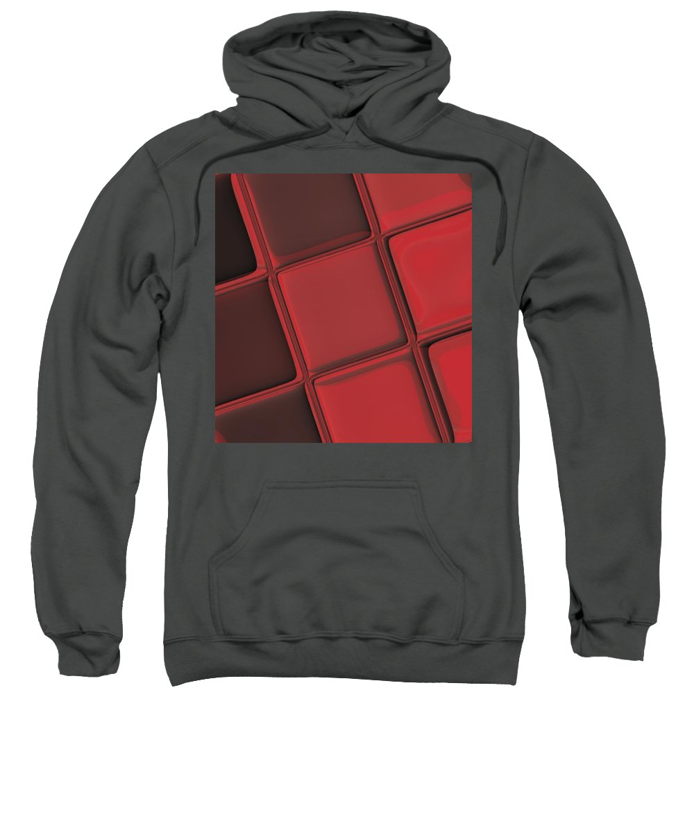 Keyboard Sweatshirt featuring the digital art Keyboard Exposure by Pharris Art