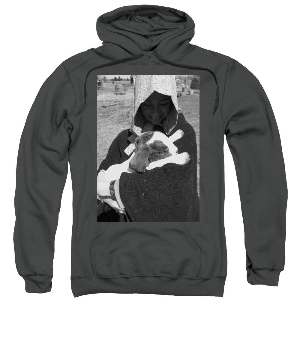 Kid Sweatshirt featuring the photograph Kid Hug by Sheri Lauren