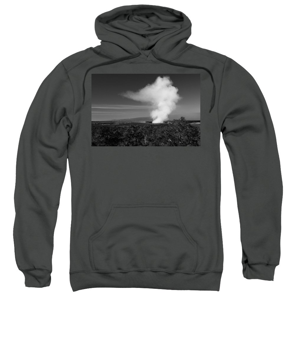 Volcano Sweatshirt featuring the photograph Kilauea Vents by Scott Rackers