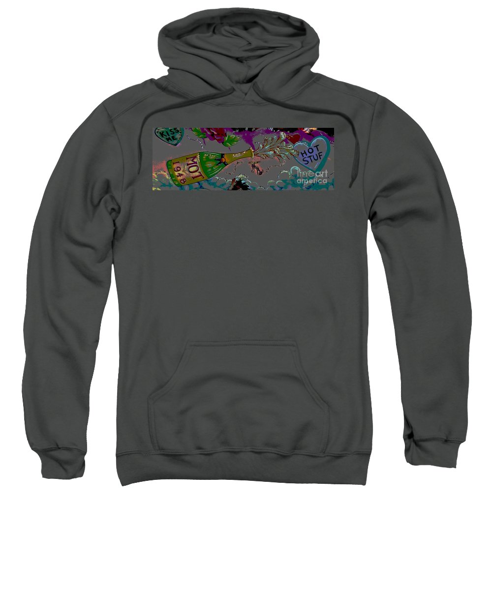 Digital Art Sweatshirt featuring the photograph Kiss Me Hot Stuf Posterized by Marian Bell