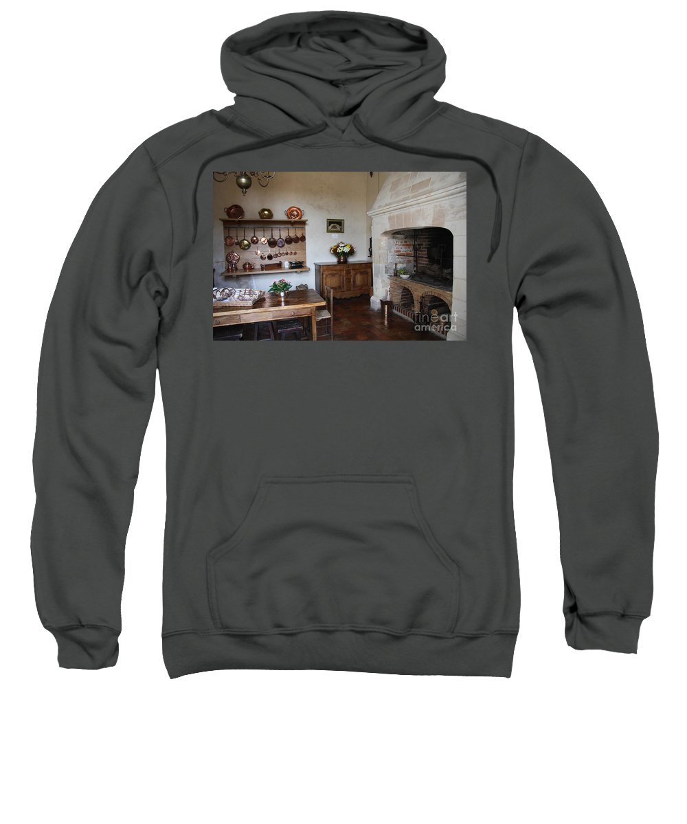 Kitchen Sweatshirt featuring the photograph Kitchen At Chateau Villandry by Christiane Schulze Art And Photography