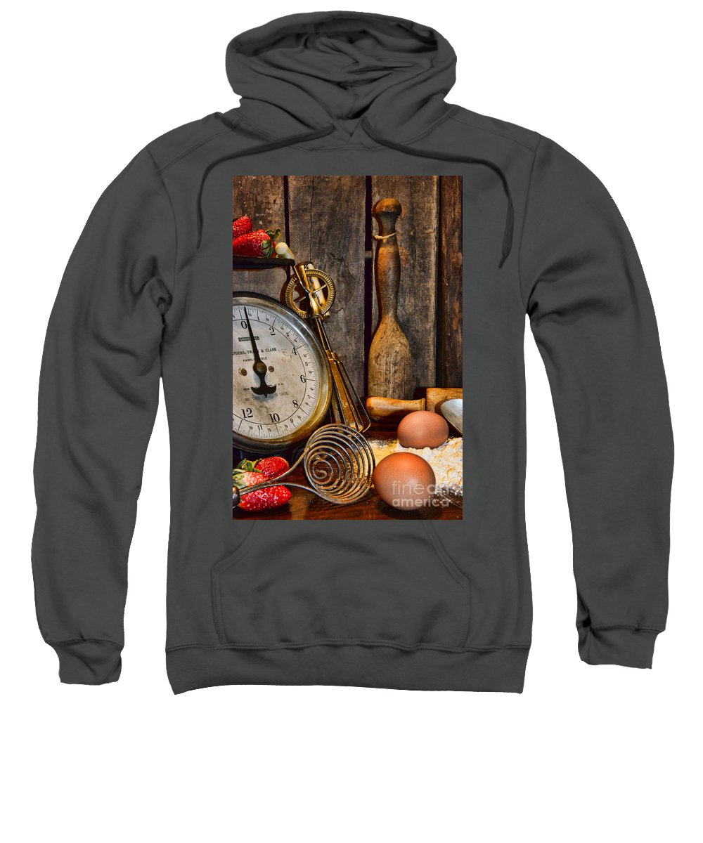 Paul Ward Sweatshirt featuring the photograph Kitchen - Baking A Strawberry Pie by Paul Ward