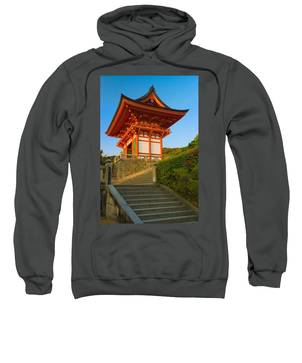 Pagoda Sweatshirt featuring the photograph Kiyomizudera Temple by Sebastian Musial